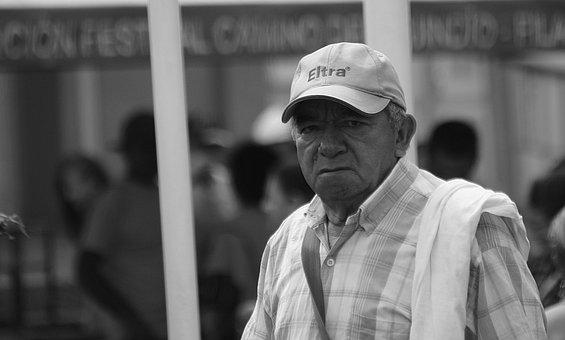 Black And White, Portrait, Man, Person, Adults, Quindio