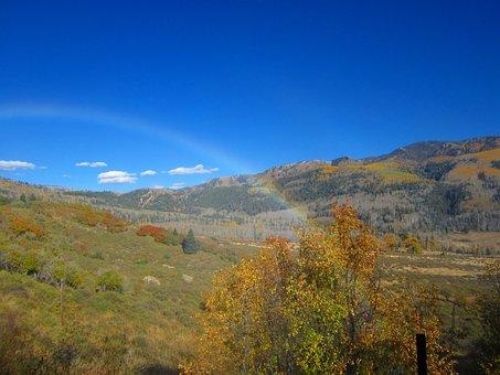 Rainbow, Colorado Valley, Fall, Wilderness, Nature