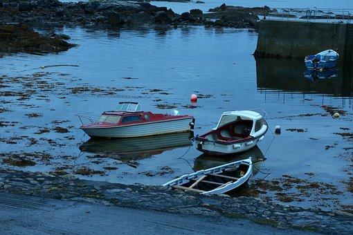 Boot, Ireland, Water, Sea, Port, Lake, Sky, Landscape