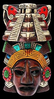 Mask, Maya, Ceramic, Aztecs, Mexico, Souvenir