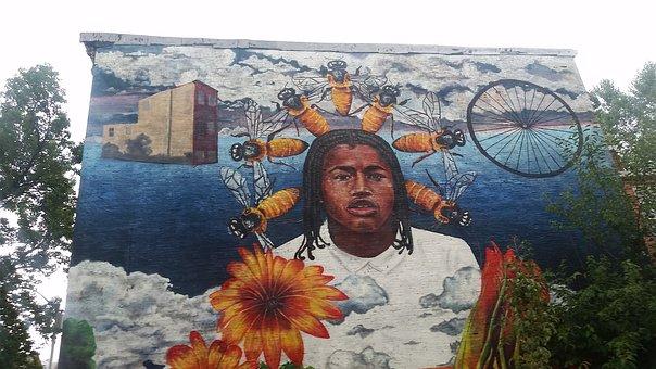 Painting, Building, Urban, Mural, Wall, City, Artwork