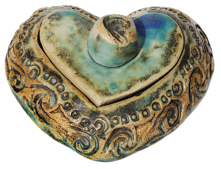 Heart Box, Ceramic, Heart, Box, Jars, Weel, Handmade