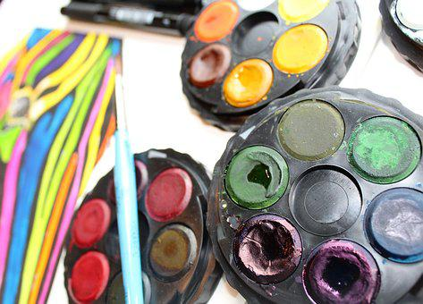 Art, Work Desk, Studio, Paint, Painting, Draw, Drawing