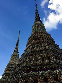 Buddhism, Bangkok, Thailand, Architecture, Temple