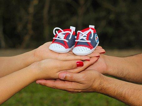 Pregnant Woman, Baby, Slipper, Son, Love, Boy