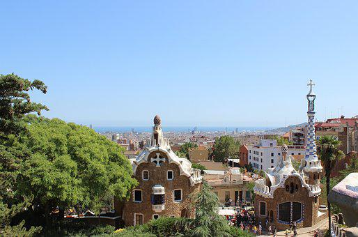 Barcelona, Park Guell, Gaudi, Architecture, Travel