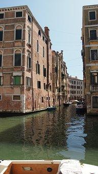 Venice, Waterway, Bridge, Italy, Channel, Venezia