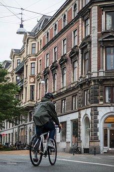 Bike, Copenhagen, Cold, Building, City, Bicycle, Street