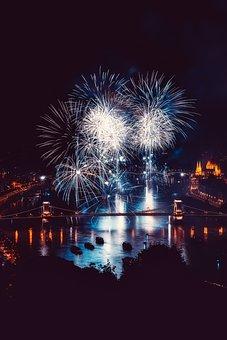 Budapest, Hungary, City, Urban, Fireworks, Celebration
