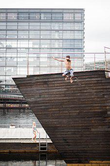 Copenhagen, Jump, Water, Happy, Cold, Marsupial, Animal