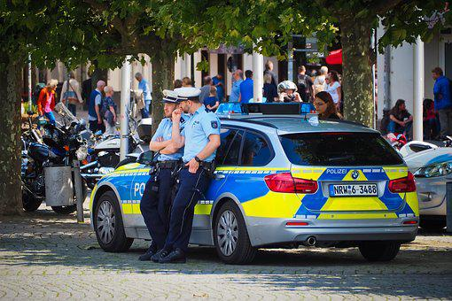 Police, Vehicle, Police Car, Auto, Blue, Control