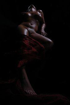 Woman, Nude, Temptation, Lying
