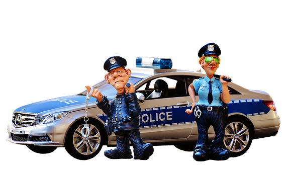 Police, Police Officers, Police Check, Figure, Funny
