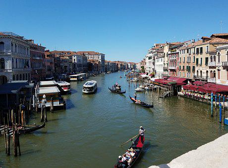 Venice, Water, Bridge, Boats, Gondola, Venetian, Italy
