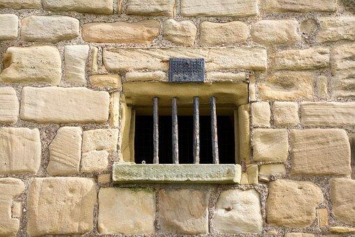 Priory Window, Bars, Ancient, Brick, Building, History