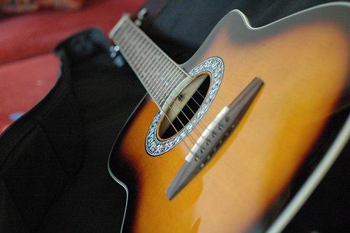 Guitar, Red, Instruments, Color, Concert