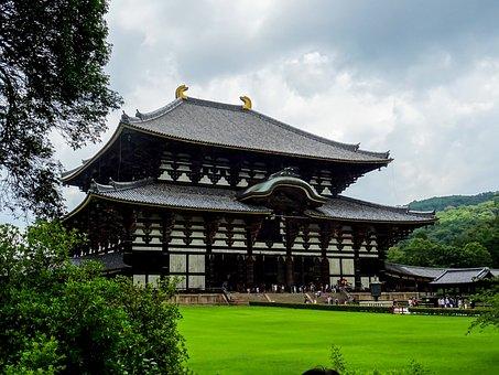 Todai-ji Temple, Nara, Temple, Japan, Wood, Japanese