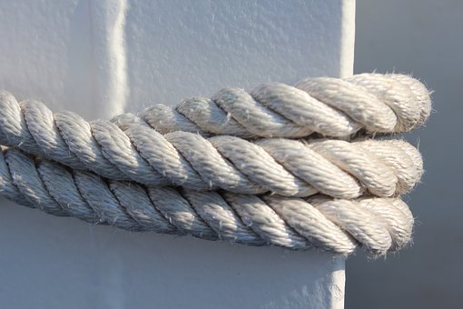 Rope, Nautical, White, Marine, Knot, Loop, Strong