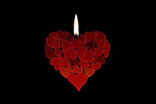 Candle, Heart, Love, Luck, Abstract, Relationship