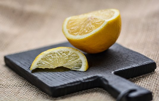 Lemon, Citrus, Fruit, Plant, Wooden, Slice, Fresh