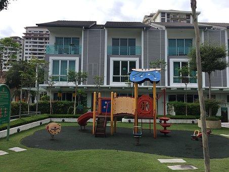 Playground, Residence, Slide