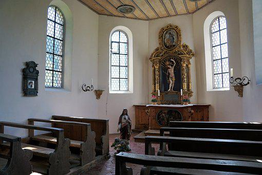 Chapel, St Sebastian, Germany, South, Europe, Religion
