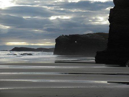 Playa Catedrales, Galicia, Rock, Nature, Cliff, Ribadeo