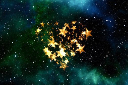 Heart, Love, Universe, Space, All, Sky, Star, Luck