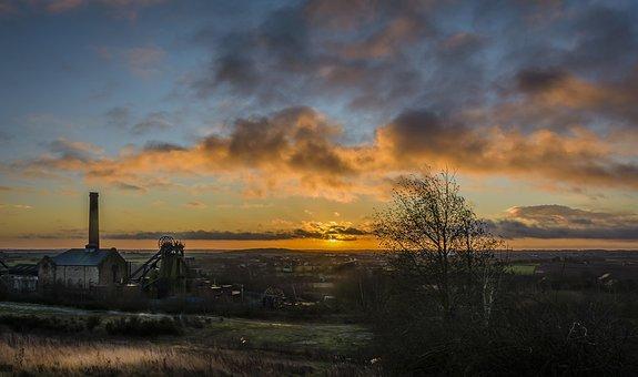 Sunrise, Landscape, Sun, Sky, Dawn