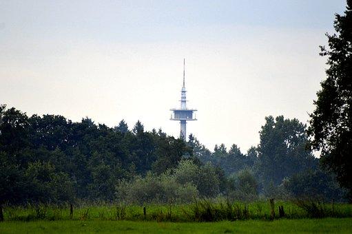 Landscape, Nature, Summer, Sky, Forest, Trees, Tv Tower
