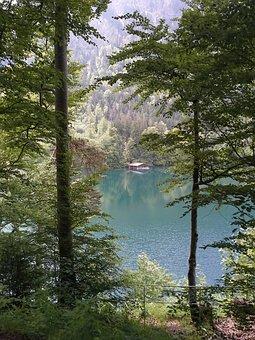 Germany, Bavaria, Mountains, Lake, Water