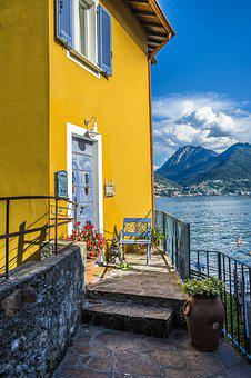 Lake Como, Italy, Mountains, Water, Summer, Lombardy