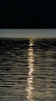 Water, Sunbeam, Mirroring, Surface, Wave, Lake