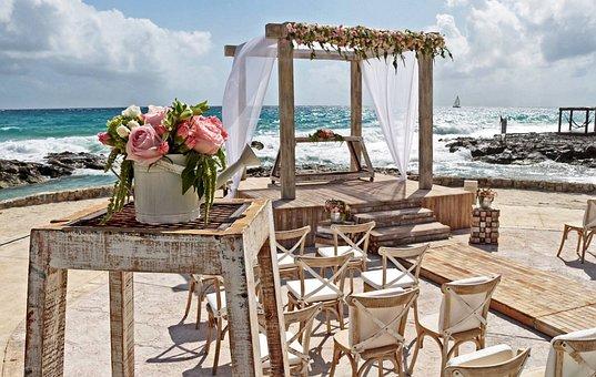 Mexico, Cancun, Beach, Wedding, Romance, Water, Sea