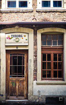 Architecture, Facade, Old, Window, Building, Hauswand