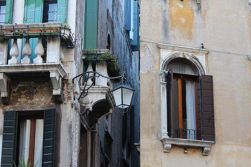 Shutters, Balcony, Venice, Architecture, House, Window