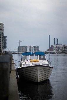 Ship, Water, Copenhagen, Rain, Cold, Sea, Boat