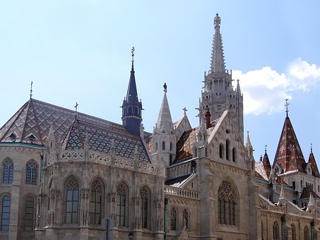 Budapest, Castle, Trip, Roof, Monument