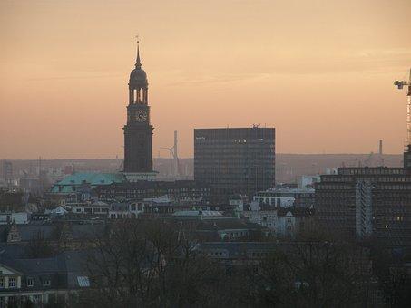 Hamburg, Michel, Hamburger-michel, Church, Steeple