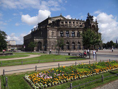 Dresden, Opera, Square, Trip, Germany, Architecture