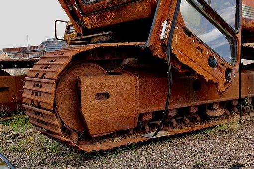 Excavators, Chain, Drive, Blade, Construction Machine