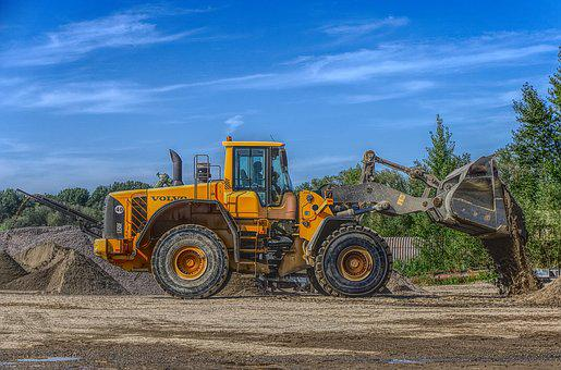 Excavators, Open Pit Mining, Pebble, Gravel, Dirt