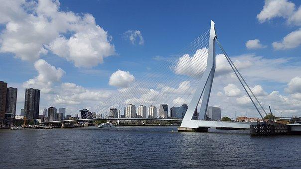 Rotterdam, Bridge, Architecture, Holland, Porto