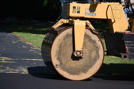 Pave, Roller, Road, Equipment, Paving, Asphalting
