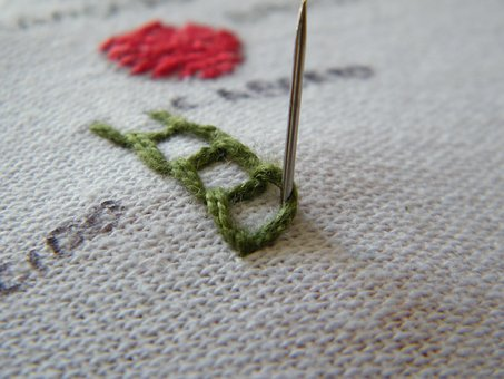 Needle, Line, Embroidery, Encyclopedia, Tissue, Sewing