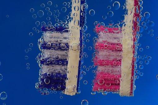 Toothbrush, Blue, Clean, Hygiene, Body Care, Brush Head