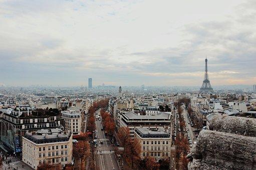Paris, Landscape, Vista, Trip, Blue Sky, Holiday