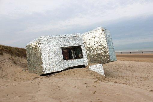 War, Beach, Ruins, Dunkirk, Belgium, World War 2