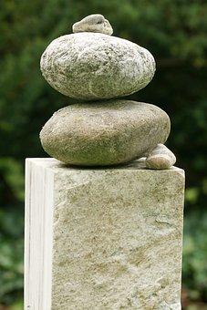 Stones, Cemetery, Harmony, Sculpture, Deco, Heavenly