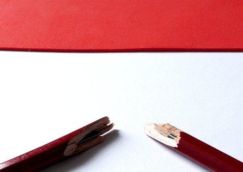 Graphite Pencil, Pen, Pencil, Broken Pen